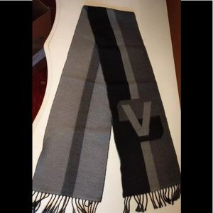 Authentic Louis Vuitton cashmere and wool scarf